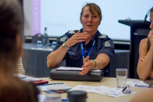 Member of Victoria Police presenting at forum
