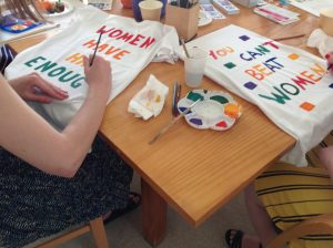 Clothesline Project Merri Health picture on T-Shirts 'You Can't Beat Women'